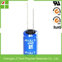 High voltage 2.8V 16F super capacitor 2.7V 16F ultracapacitor Low leakage current 2.7v 16f super capacitors Memory backup