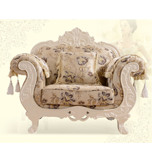Carving Solid Timber Frame Sofa Soft Furniture Chenille Fabric Sofa Guangzhou Furniture Market