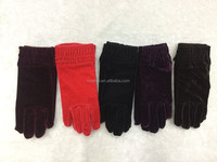 2015 fashion style women party gloves knitted women winter fashion gloves for wholesale customized black cotton knitted gloves