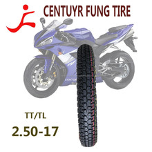 high quality Tubless motorcycle tire 2.50-17 with the new popular pattern made in china own factory