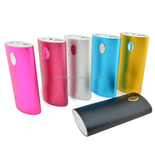 Rechargeable aluminium power bank 5200mah colorful for galaxy grand duos