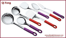 Stainless Steel Kitchen Utensil with colorful handles