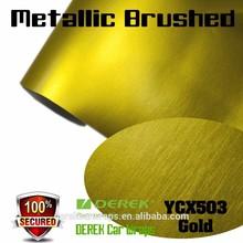 Premium Bubble Free Matte Metallic Brushed vehicle vinyl wrap For Car Body