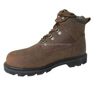 SLS-R24C6 crazy horse leather safety shoes boots