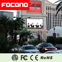 Outdoor Fixed Installation Large Size LED Building Video Walls For Advertising