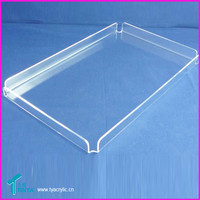 Modern Urban Clear Acrylic Large Rectangle Drinks Cocktail Serving Tray