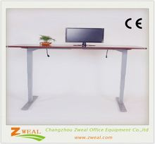 electric computer desks for home Zweal adjustable height desk table with wooden top