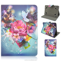 Painting Pretty Flowers Pattern Flip Stand PU Leather Case Covers For Universal 7.0inch Tablets PC