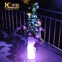illuminate led flower vase with light decoration plastic LED flower vase