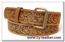 Cheap wholesale custom printed high-grade fashion national style leather belt