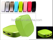 fashionable inflaming retarding abs high light uv power bank 5200mah
