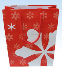 2015 fashion cheapest paper bag/ gift packing carrier handle paper bag/ bag with length handle