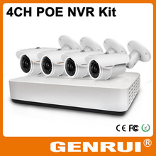 New Product, GENRUI 4CH P2P & POE NVR Kit, Megapixel HD CCTV Camera System