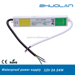 ac 220v to dc 12v 2a 24w constant current led driver waterproof ip67