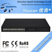 Best Price High Quality Quality Speednt UK3500-24TC 24 Ports Gigabit 10/100/1000M RJ45 Network Switch with Stell Case