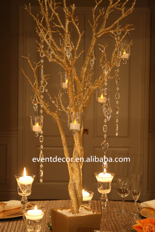 Gold wedding tree branches for decorations buy gold for Twigs decoration for weddings