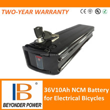 Hot sale high power recharge 36v10ah batteries, pack for electrical bicycles scooters