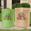 biodegradable food grade plastic bags kraft paper stand up plastic packaging bags zip lock bag with transparent window