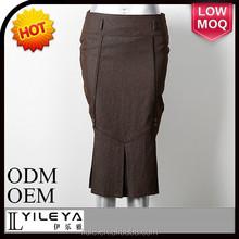 高速サンプリング茶色最新の- スカート- 設計- 写真、 レディースショートスカートのデザインのための真の大人の女性