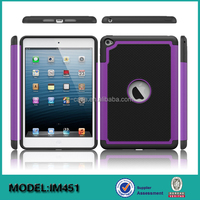 Unique football design shockproof PC silicone tablet case for iPad Mini 4