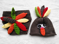 caps and hats warm christmas winter baby outfit for Xmas joker high quaility wool handmade colorful nose turkey sets