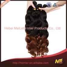 Body Wave two tone color virgin brazilian hair extension, wholesaler price brazilian human hair