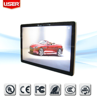 Full HD portrait/landscape 32 inch lcd led wall mounted network digital signage player wireless led backlight