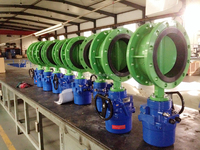 new product double flange butterfly valve with electric actuator dn250
