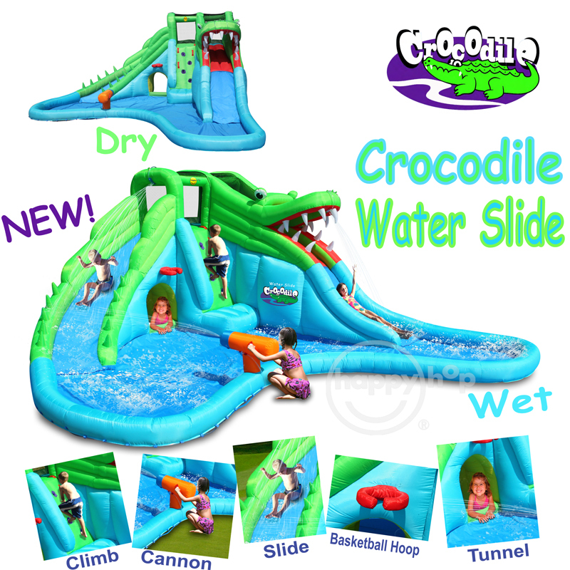 Inflatable Water Slide Instructions: Happy Hop Inflatable Bouncer-9517 Giant Children