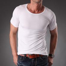 TEMPY wholesale high quality fashion slim fit organic blank men's t shirt men