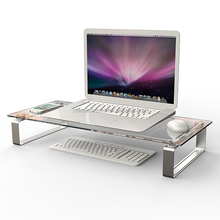 Stylish practical detachable desktop computer shelf