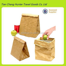 Alibaba China custom foldable tyvek lunch bag/brown paper lunch bag/insulated lunch bag