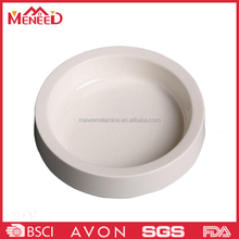 SGS standard family dog and cat use plastic unbreakable wholesale white round portable pet bowls