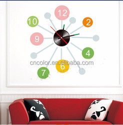 new design adhesive wall clock for sale