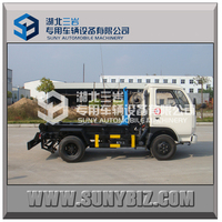 DONGFENG 4X2 garbage truck hook lift trucks for sale hot photo