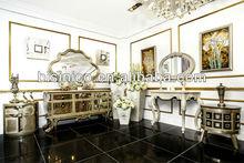 Luxo novos clássicos mobília da sala de jantar SET - Buffet com espelho, Console com espelho, Moq : 1 conjunto ( B21316 )