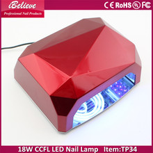 ibelieve diamond shape 18w ccfl led nail lamp 18w/36w/54w uv gel nail lamp for nail art