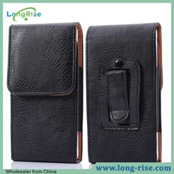 Cheap Price Vertical Flip Leather Holster Belt Clip Case for Samsung Galaxy Mega 6.3
