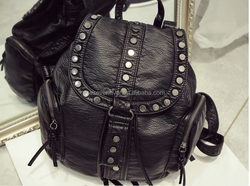 Autumn and winter new PU backpack fashion school bag with rivets western style handbag