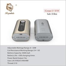 2015 new design 60w vw box mod icoopa 50w box mod 50w vaporizer pen wholesale