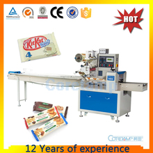 horizontal flow bread/candy/biscuit/chocolate packing machine