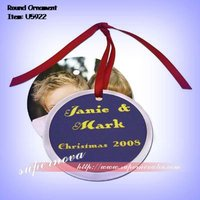 Sublimation Blank Round Christmas Ornament