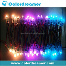 WS2801 IC 0.3W pixel string 12mm led dot light for stage backdrop decor