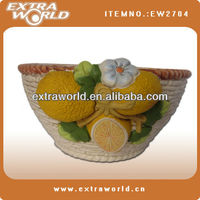 Fashion lemon flower pot clay pottery