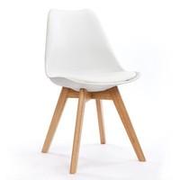 Charles DSW side chair, Modern Plastic Dinning Chair, wood leg dining chair