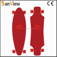 2015 new plastic longboard pintail longboard new skateboard