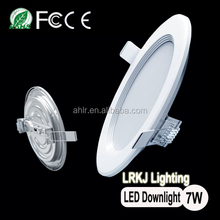 chinese manufacture 180 beam angle 7W led slim light downlight CE ROHS FCC TISI PSE