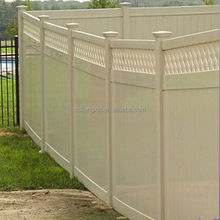 Privacy guardrail plastic profiles fence with ISO9001