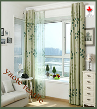 Countryside Style Leaves Printing Blackout Window Curtains