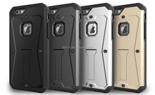 armor tank dual PC+TPU hard plastic cell phone case with kickstand for Samsung